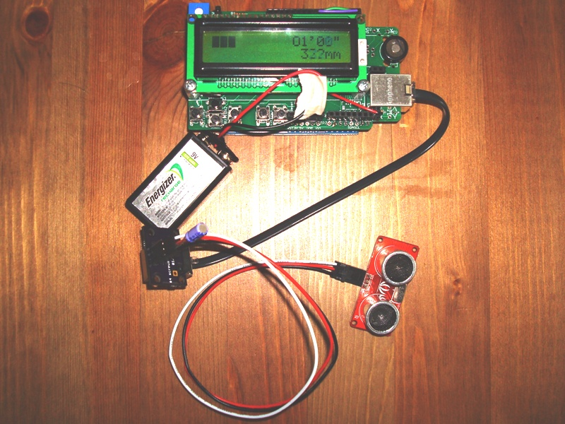 Car reverse backing obstacle sensor with sonic ranger