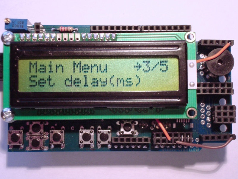 Custom characters on LCD 1602 screen with I2C interface