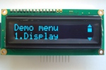 phi-panel backpack 16X2 OLED long message menu