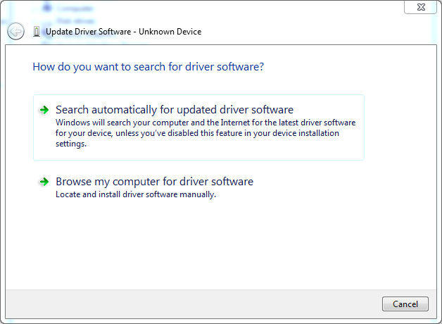 Update software driver