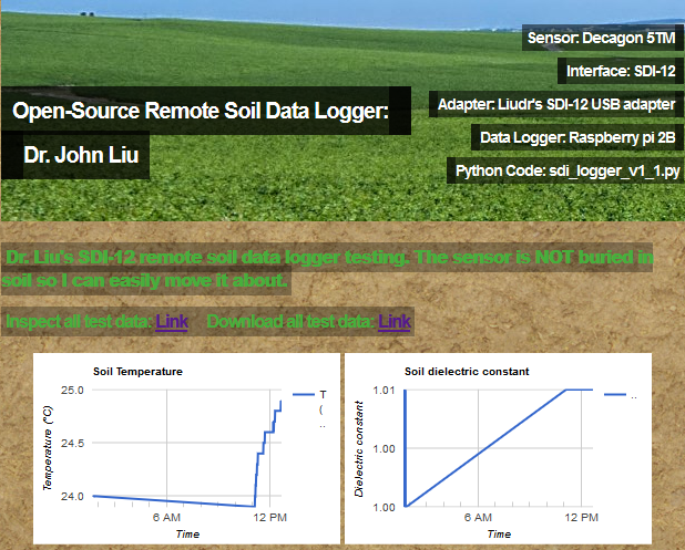 soil logger webpage