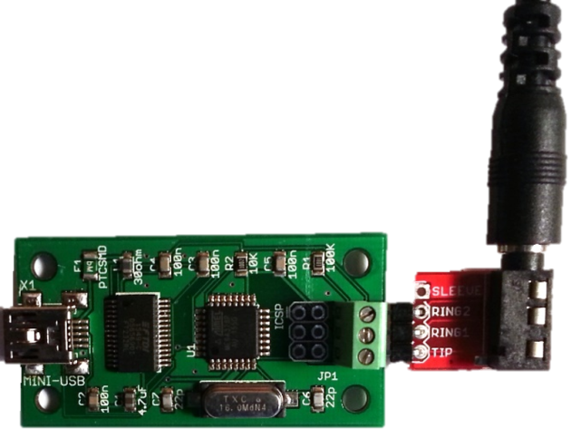 SDI-12 USD adapter with stereo adapter
