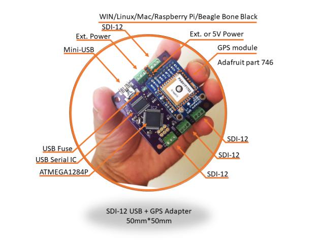 SDI-12 + GPS USB adapter | Liudr's Blog